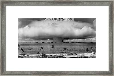 Nuclear Weapon Test - Bikini Atoll Framed Print by War Is Hell Store