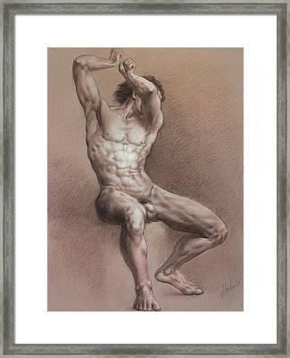 Nude 9 Framed Print by Valeriy Mavlo
