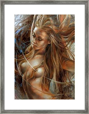 Nude Dinamik2 Framed Print by Arthur Braginsky