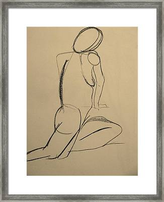 Nude Drawing 2 Framed Print by Kathleen Fitzpatrick