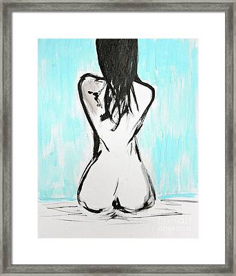 Nude Female Framed Print by Julie Lueders
