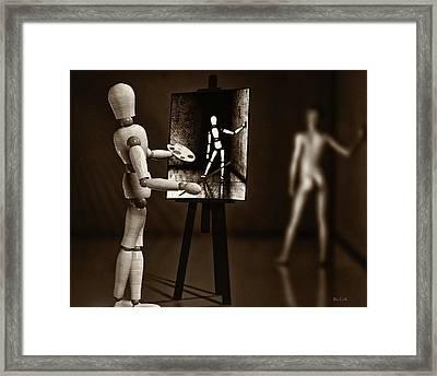 Nude Model  Framed Print by Bob Orsillo