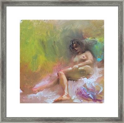 Nude Study Framed Print by Ylli Haruni
