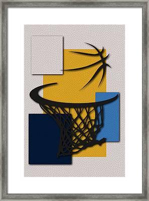 Nuggets Hoop Framed Print by Joe Hamilton