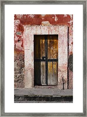 Number 139 San Miguel De Allende Framed Print by Carol Leigh