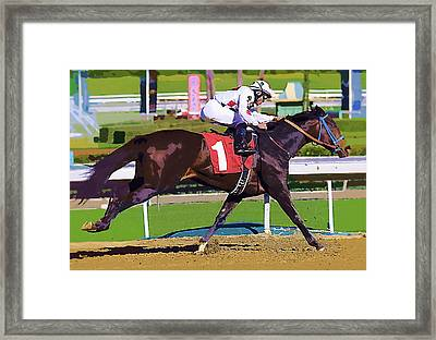 Number One Racing Framed Print by Clarence Alford