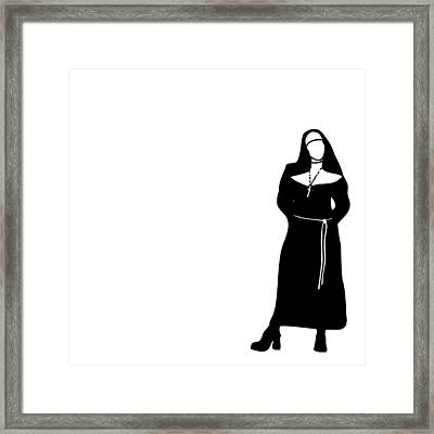 Nun Framed Print by Karl Addison