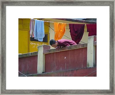 Nun's Personal Morning Ceremony Framed Print by Dagmar Batyahav