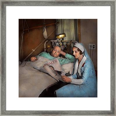 Nurse - Comforting Thoughts 1933 Framed Print by Mike Savad