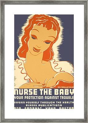 Nurse The Baby Framed Print by Georgia Fowler