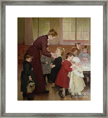 Nursery School Framed Print by Hneri Jules Jean Geoffroy