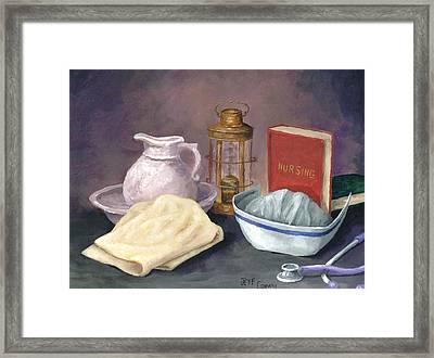 Nursing Framed Print by Jeff Conway