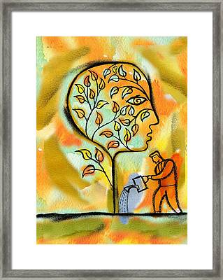 Nurturing And Caring Framed Print by Leon Zernitsky