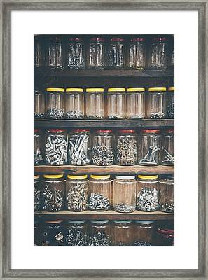 Nuts And Bolts And Bolts And Nuts Framed Print by Scott Norris