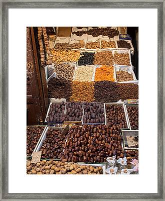 Nuts With Dates And Dried Fruit Framed Print by Panoramic Images