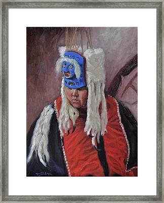 Nuxalk Dancer Framed Print by Tahirih Goffic