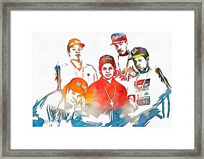 Nwa Color Tribute Framed Print by Dan Sproul