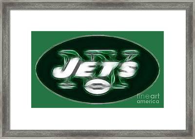 Ny Jets Fantasy Framed Print by Paul Ward