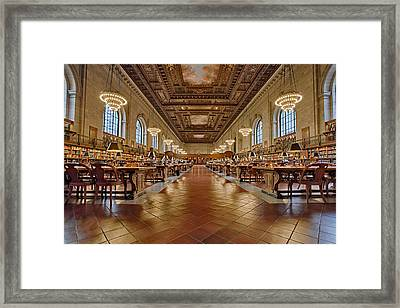 Ny Public Library Main Branch Framed Print by Susan Candelario