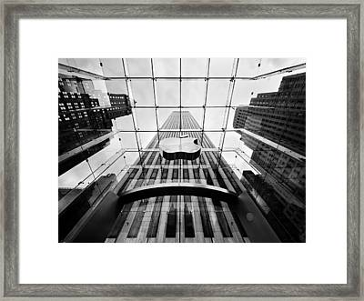 Nyc Big Apple Framed Print by Nina Papiorek