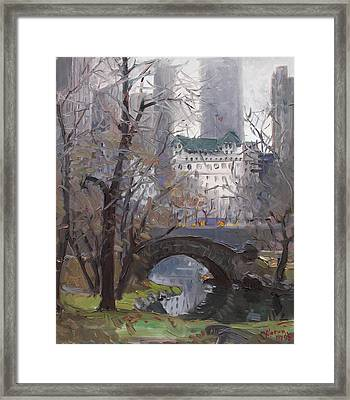 Nyc Central Park Framed Print by Ylli Haruni