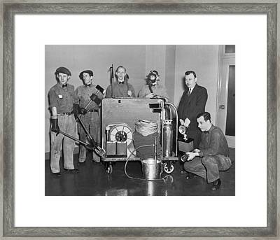 Nyc Civil Defense Team Framed Print by Underwood Archives