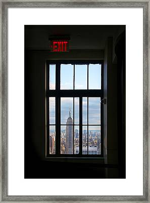 Nyc Exit Framed Print by Nina Papiorek