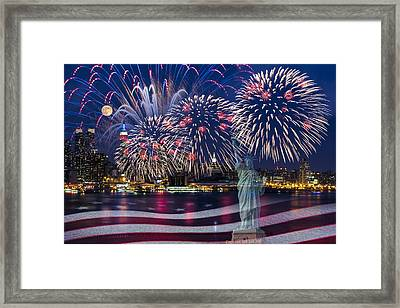 Nyc Fourth Of July Celebration Framed Print by Susan Candelario