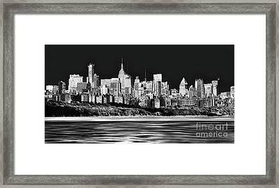 Nyc Skyline Framed Print by Arnie Goldstein