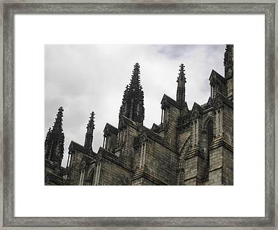 Cathedral Church Of St. John The Divine - Morningside Heights Nyc  Framed Print by Charles Allen