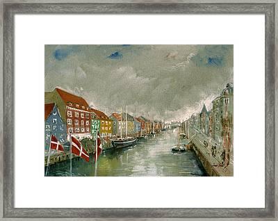 Nyhavn Copenhagen Framed Print by Juan  Bosco