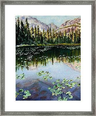 Nymph Lake Framed Print by Mary Benke