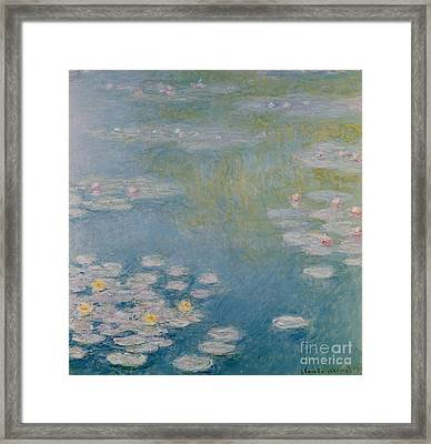 Nympheas At Giverny Framed Print by Claude Monet