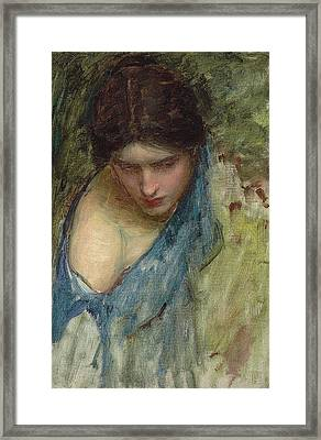 Nymphs Finding The Head Of Orpheus Framed Print by John William Waterhouse