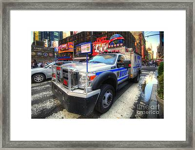 Nypd Truck Framed Print by Yhun Suarez