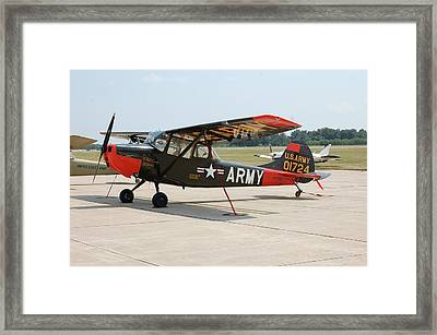 O-1 Bird Dog Framed Print by Jame Hayes