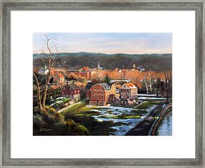 O, Little Town Framed Print by Diane Hutchinson