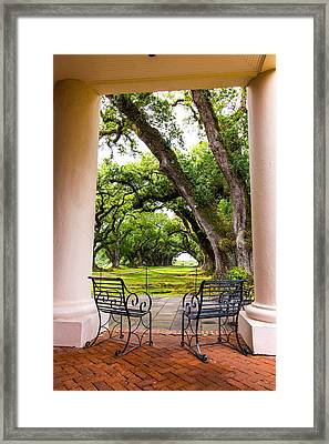 Oak Alley Plantation Framed Print by Terry Finegan