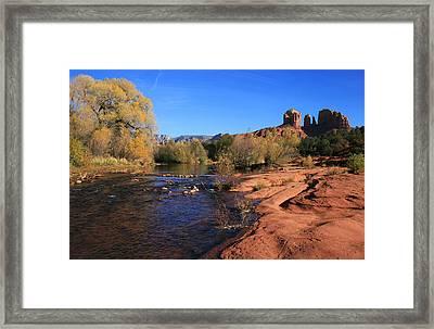 Oak Creek Autumn Framed Print by Gary Kaylor