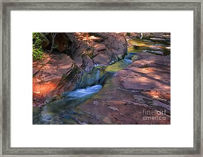 Oak Creek Canyon Splendor Framed Print by Sandra Bronstein