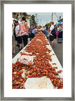 Oak Street Music Street Fair Crawfish Boil Framed Print by Terry Finegan