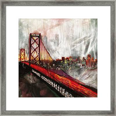 Oakland Bay Bridge 223 2 Framed Print by Mawra Tahreem