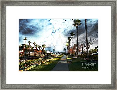 Oakland California Temple . The Church Of Jesus Christ Of Latter-day Saints Framed Print by Wingsdomain Art and Photography