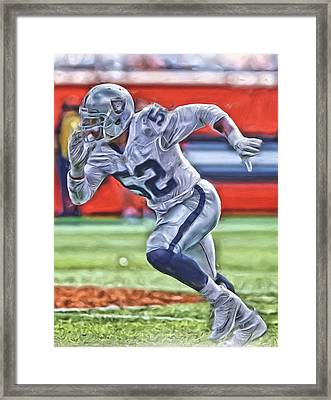 Oakland Raiders Oil Art 1 Framed Print by Joe Hamilton