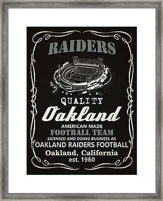 Oakland Raiders Whiskey Framed Print by Joe Hamilton