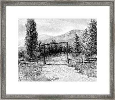 Oakley Ranch Entrance Framed Print by David King