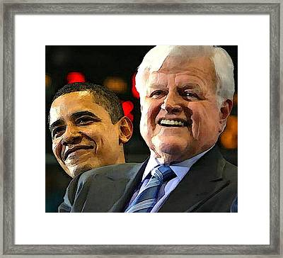 Obama And Kennedy Framed Print by Gabe Art Inc