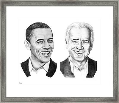 Obama Biden Framed Print by Murphy Elliott