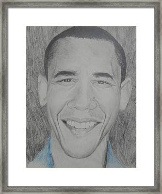 Obama Gq Framed Print by Kevin  Williams