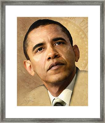 Obama Framed Print by Joel Payne
